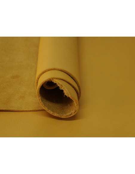 Napa ternera en color Golden con aspecto envejecido ideal para fabricar bolsos, carteras, calzado y otros productos de piel