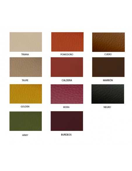 Carta de colores de la piel Napa Ternera recomendada para fabricar bolsos, calzado y todo tipo de artículos de cuero