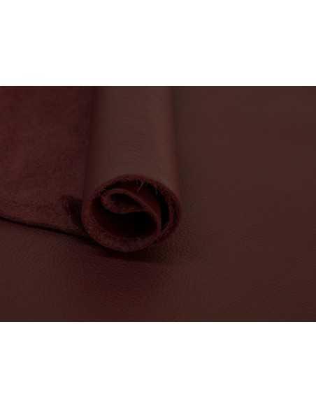Piel color Burdeos con aspecto natural full grain para bolsos