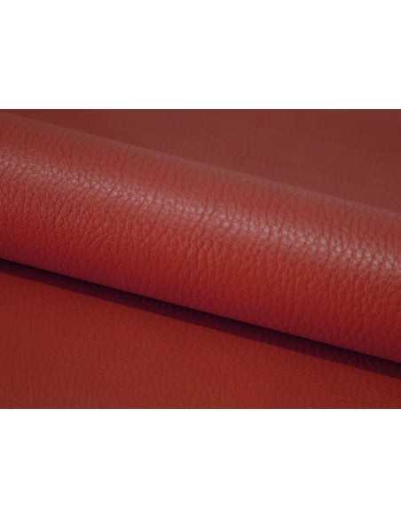 Cuero ternera color Rojo con aspecto avejentado