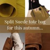 Split suede #totebags #splitsuede #leathergoods #softleather #leathertote