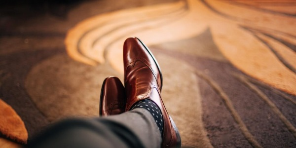 Leather shoe design